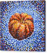 Pointillism Pumpkin Canvas Print