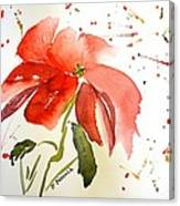 Pointsettia Canvas Print