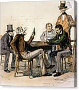 Poker Game, 1840s Canvas Print