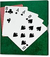 Poker Hands - Dead Man's Hand 2 V.2 Canvas Print