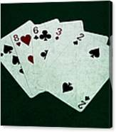 Poker Hands - High Card 4 Canvas Print