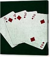 Poker Hands - Straight Flush 4 Canvas Print