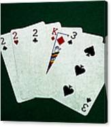 Poker Hands - Three Of A Kind 1 Canvas Print