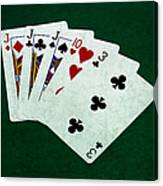 Poker Hands - Three Of A Kind 3 Canvas Print