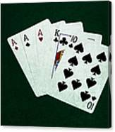 Poker Hands - Three Of A Kind 4 Canvas Print
