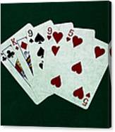 Poker Hands - Two Pair 1 Canvas Print