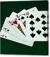 Poker Hands - Two Pair 3 Canvas Print