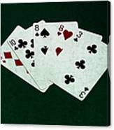 Poker Hands - Two Pair 4 Canvas Print