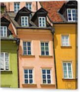 Poland, Warsaw Close-up Of Building Canvas Print