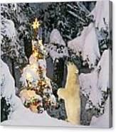 Polar Bear Cub Standing On Hind Legs Canvas Print