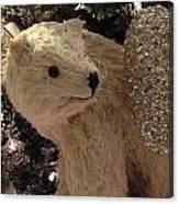Polar Bear With Ornaments Canvas Print