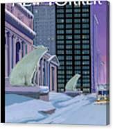 Polar Bears On Fifth Avenue Canvas Print