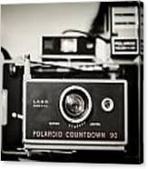 Polaroid Countdown 90 Canvas Print