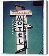 Polaroid Transfer Motel Canvas Print