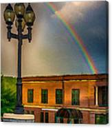 Police At The End Of The Rainbow Canvas Print