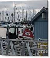 Police Boat Canvas Print