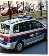 Police Car In Vienna Canvas Print