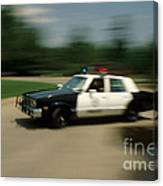 Police Car Canvas Print