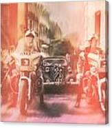 Police escort Canvas Print