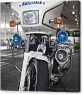 Police Honda Canvas Print