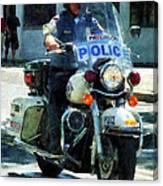 Police - Motorcycle Cop Canvas Print