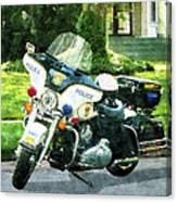 Police - Police Motorcycle Canvas Print