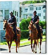 Police - Two Mounted Police Canvas Print
