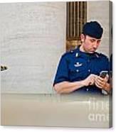 Policeman At St. Peter's Basilica Canvas Print