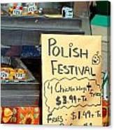 Polish Food Street Stand Canvas Print