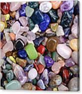 Polished Gemstones Canvas Print