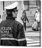 Polizia Roma Capitale Canvas Print