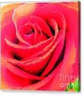 Polka Dot Beautiful Rose Canvas Print