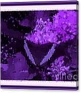 Polka Dot Butterfly Purple Canvas Print