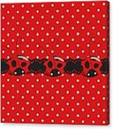Polka Dot Lady Bugs Graphics By Kika Esteves  With Custom Coordinated Design Crafted By D Miller.  Canvas Print