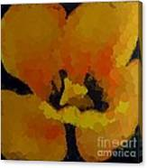 Polka Dot Yellow Blooming Tulip Canvas Print