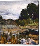 Polling Landscape Canvas Print