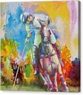 Polo Art Canvas Print