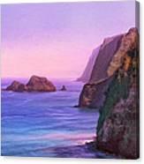 Pololu Valley Sunset Canvas Print