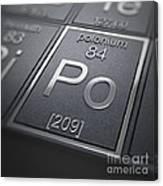Polonium Chemical Element Canvas Print