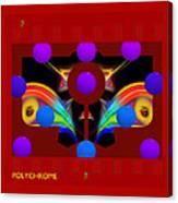 Polychrome Red Kimono Canvas Print