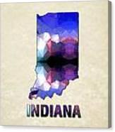Polygon Mosaic Parchment Map Indiana Canvas Print