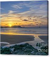 Polzeath Sunset 3 Canvas Print