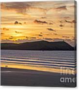Polzeath Sunset 4 Canvas Print