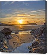 Polzeath Sunset Canvas Print