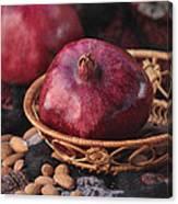 Pomegranates And Almonds Canvas Print