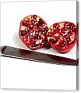 Pomegranates And Knife Canvas Print