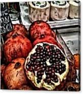 Pomegranates In Open Market Art II Canvas Print