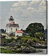 Pomham Rocks Lighthouse Canvas Print