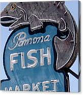 Pomona Fish Market Sign Canvas Print