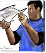 Pompano Catch Of The Day Canvas Print